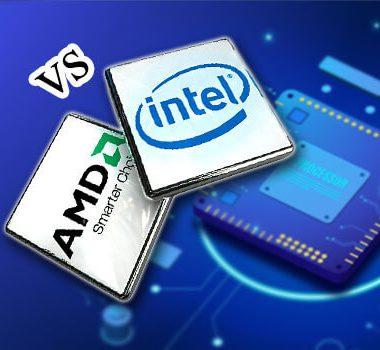 مقایسه پردازنده intel و AMD