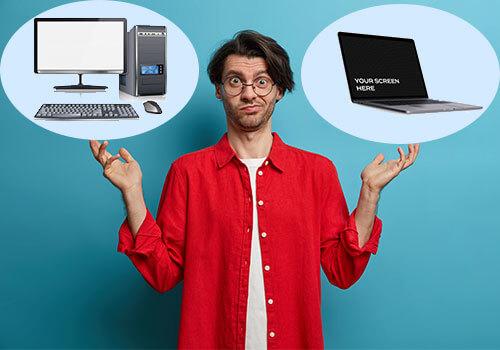 لپ تاپ یا کامپیوتر رومیزی